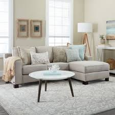 Sectional Sofa With Chaise Linen Sectional Sofas For Less Overstock