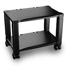 Desk For Laptop And Printer by Best Printer Stand With Wheels 2 Tiers Shelf Small Under The Desk