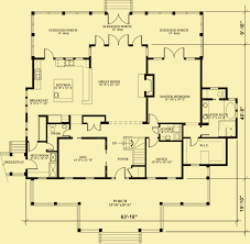 traditional southern house plans with front u0026 rear porches