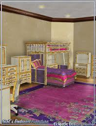 dream home eclectic girls bedroom furniture 3d models and 3d