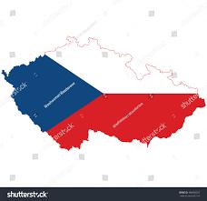 Map Of Czech Republic Flag Map Czech Republic Stock Vector 466920353 Shutterstock