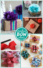 gift wrapping bows craftionary