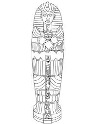 king tut gold sarcophagus of ancient coloring page ancient