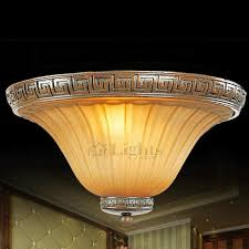 Rustic Ceiling Light Fixture Classic Carved Glass Shade Rustic Ceiling Lights