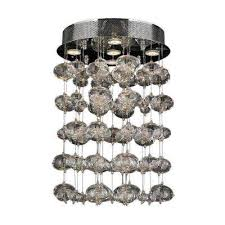 Crystal Ceiling Mount Light Fixture by Crystal Flushmount Lights Ceiling Lights The Home Depot