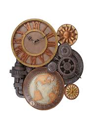 Wall Clock Design Steampunk Gears Time Wall Clock By Design Toscano