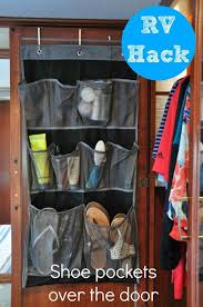 Rv Closet Doors Rv Hack Use Vertical Space On Back Of Closet Doors With Shoe