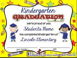 kindergarten certificates kindergarten certificate template ideas resume ideas