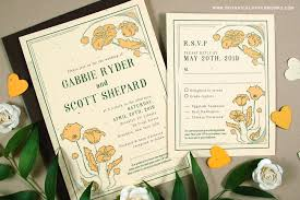 art nouveau plantable wedding invitations collection for vintage