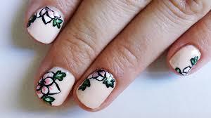 nails diseño de uñas facil con flores youtube