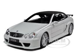 white mercedes convertible clk dtm amg convertible white 1 18 diecast model car kyosho 08462