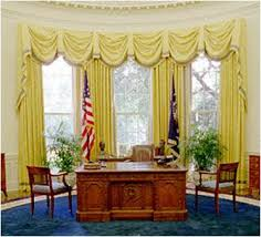 gold curtains in the oval office oval office