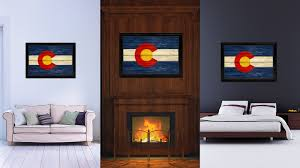 colorado state flag home decor office wall art livingroom interior