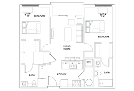 Stadium Floor Plans Deck 2 Bed 2 Bath B Stadium Centre Student Housing