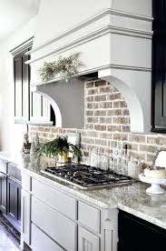 Kitchen Interior Pictures Gorgeous Facade Tile Backsplash Kitchen Interior Brick Wall White