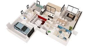 chambre en 3d midi 99 m 3 chambres maisons de l atlantique constructeur