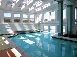 swimming pool awesome indoor pool designs with cool blue ceiling