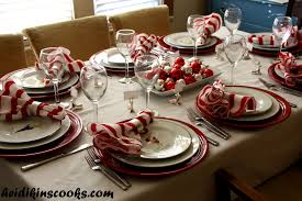 setting a table with pottery barn reindeer plates
