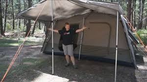 Tent Cabin by Black Wolf Turbo Lite Cabin 450 Tent Youtube