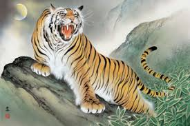 fearsome tiger japanese design 1000 jigsaw puzzle best buy