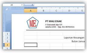cara membuat kop surat dan logo cara menambahkan logo pada header ms excel cara aimyaya cara