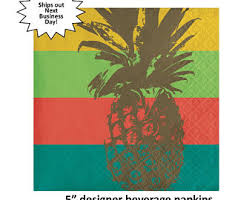 Paper Pineapple Decorations Gold Pineapple Straws Mix Pineapples Party Decorations Luau