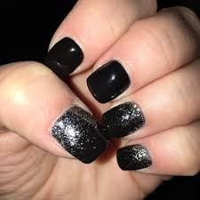 Black Manicure Designs Nail Designs Black And Silver Nail Easy Cool Colors Of Black