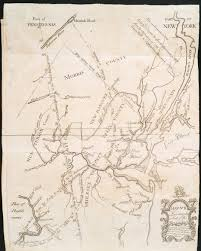 Nj Path Map Minisink Valley Genealogy The Great Minisink Trail In 1747