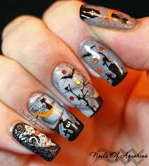 cat on the moon watermarble glow in the nail