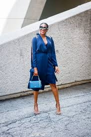 the perfect navy cocktail dress for new york fashion week