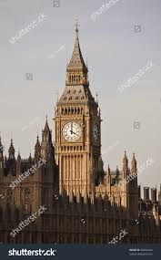 London Clock Tower by Big Ben Clock Tower View From Lambeth Bridge London England Uk