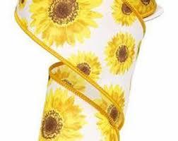 sunflower ribbon sunflower ribbon etsy