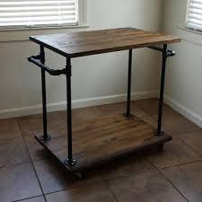Industrial Kitchen Furniture by Industrial Kitchen Cart Bar Cart Serving Cart Industrial