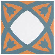 Floor Decor Upland Merola Tile Revival Tulip 7 3 4 In X 7 3 4 In Ceramic Floor And