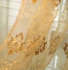 132 inch damask embroidered rod pocket sheer curtains sale 77 00