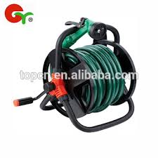 15m 20m portable wall mounted iron frame garden hose reel cart