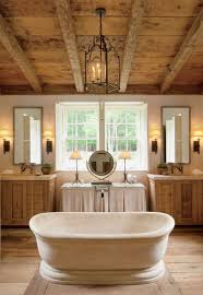 Bathroom Lights Ideas by Marvelous Rustic Bathroom Lighting Ideas Wood Beam Lighting White