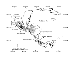 Black And White Map Of Central America by Lab News