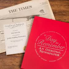 30th wedding anniversary gift ideas original newspaper from 1967 golden wedding anniversary