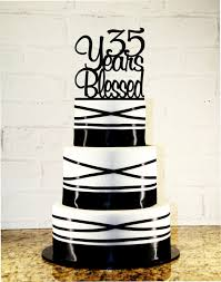 items similar to 35th birthday wedding anniversary cake topper