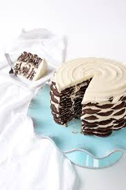 magnolia icebox cake icebox cake recipe with oreo cookies the bearfoot baker