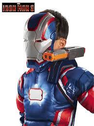 Patriots Halloween Costume Iron Patriot Iron Man Shoulder Chain Gun Halloween Costumes