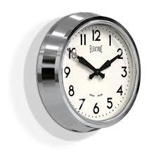 50 u0027s chrome wall clock wall clocks cuckooland