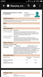 cv builder resume pdf maker cv builder for android