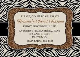 leopard print birthday invitations ideas vintaged crackled pink