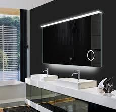 illuminated demister bathroom mirrors mirror design ideas round large led bathroom mirrors inside