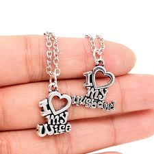 necklace charm designs images New designs valentine 39 s day gift lovers couple gift i love my wife jpg