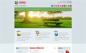 hyper simple boxed joomla free template