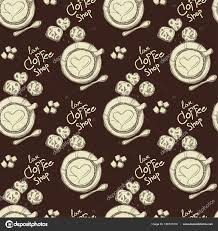 coffee shop background design pattern coffee shop graphic design background objects stock vector