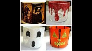 halloween candlestick holders halloween diy candle holders youtube